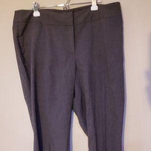 Rafaella curvy black gray pant 18W